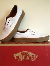 VANS ERA womens True White Gumsole Trainers Size Uk 3 BRAND NEW WITH BOX!!!
