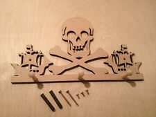 "6MM MDF ""PIRATE"" Coat Hook Kit - 300mm x 100mm"