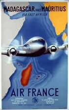Affiche Air France - Madagascar and Mauritius