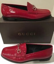 New Gucci Red Patent Leather Loafer Mocassins  Gucci SZ 38 /US 8 Wmn ��❤️��