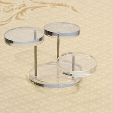 New Clear Round Plastic Jewelry Display Holder Stand Rack Shop Retail Showcase