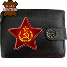 Klassek Hammer Sickle Star Wreath Leather Wallet USSR Russia Socialist communist