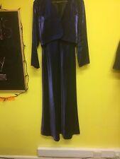 BELLISSIMO Donna Sera Abito con giacca di corrispondenza, blu, taglia 12, prima