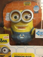 MINIONS Movie Collector's Edition Minion Bob Interactive Talking Figure Doll NEW