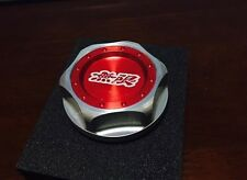 JDM MUGEN EMBLEM BRUSHED RED TWIST  ENGINE OIL FILLER CAP BADGE HONDA ACURA F/S