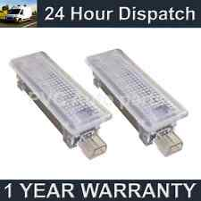 2X FOR BMW 5 SERIES E60 E61 F10 6 WHITE LED FOOTWELL COURTESY GLOVE BOX LAMP
