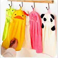 Cartoon Animal Yellow duck Bath Hanging Wipe Towel Cute Kids Nursery Hand Towel