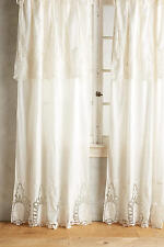 2 New Anthropologie Home Decor 50 x 96 Victorian Lace Curtains Ivory