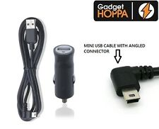 In Car Charger & MINI USB Cable for Tomtom GO LIVE START RIDER XL XXL ONE SERIES