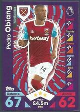 TOPPS MATCH ATTAX 2016-17 #U68-WEST HAM UNITED-PEDRO OBIANG