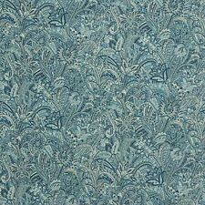 *2 to 18 y+ Kravet Callas Paisley Cotton Print Blue Heavy Duty Uhpolstery Drapes