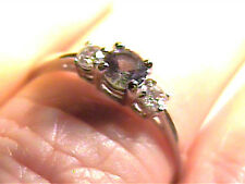 Russian Alexandrite Ring 6 SILVER color change sterling 925 natural small trio
