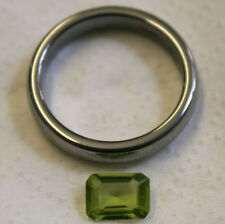 NATURAL PERIDOT GEMSTONE FACETED 6X7.5MM BAGUETTE CUT LOOSE 1.1CT GEM PE09C
