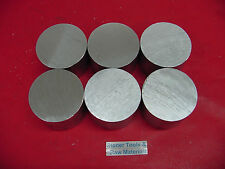 "8 Pieces 3"" OD ALUMINUM 6061 ROUND ROD 1-3/8"" long T6511 Solid Lathe Bar Stock"