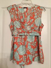 J. Crew Woman's Belted Blouse Floral - Size 12