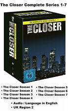 The Closer Complete Series 1-7 Seasons 1 2 3 4 5 6 7 Box Set [28 DVD] R2 UK NEW