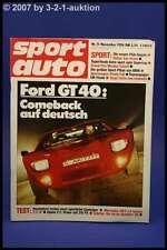 Sport Auto 11/86 Ford GT 40 Alpina C2 DB 190 E 2.3 16