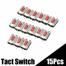 15PCS DC 12V 2 Pins Tact Tactile Push Button Momentary SMD SMT Switch 3x6x2.5mm