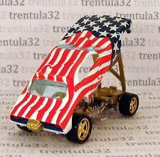 Set Exclusive AMERICAN FLAG SNAKE FUNNY CAR Red White & Blue HOT WHEELS Loose
