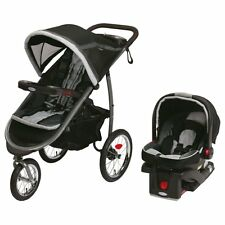 Graco Jogger Stroller + SnugRide Click Connect Car Seat Travel System, Gotham
