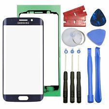 Blue Screen Front Glass Lens Replacement For Samsung Galaxy S6 Edge G925A G925T