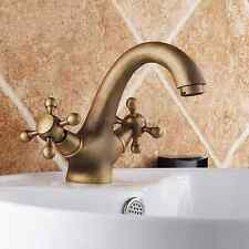 Vintage Bathroom Basin Faucet Tap Antique Brass Vanity Sink Faucet 15012