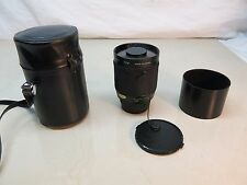 Promaster Spectrum 7 500mm f/8 Mirror Lens With Case,Caps, Hood, Excellent!