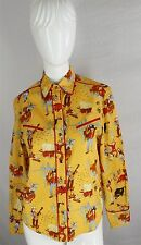 VTG AMY HOBAN CALIFORNIA WEAR WESTERN SHIRT SMALL Yellow Pearl Snaps Amazing S