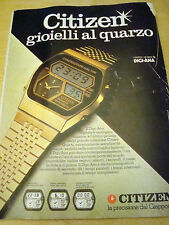 PUBBLICITA' ADVERTISING WERBUNG 1979 CITIZEN QUARTZ DIGI-ANA OROLOGIO  (A16)