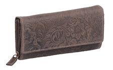 Señora Lang bolsa Jockey Club en real-cuero, marrón oscuro