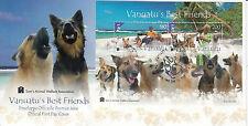 Vanuatu 2013 Fdc Vanuatu los mejores amigos 2v S/s cubierta Perros Sam del bienestar animal
