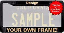 CUSTOM Personalized Plastic Black Gold CLASSIC 1960 Legacy License Plate Frame