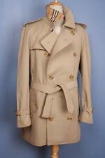 Mens BURBERRY Bespoke Short TRENCH Coat Mac Beige 42/44 STUNNING