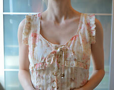 Liz Lisa Summer floral lace up white babydoll dress ~ JAPAN ~ LOLITA ~ JAPANESE