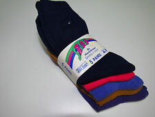 5 Pack MS Colourful Socks Navy Hot Pink Gold Lilac Purple Adults 4-7 Work Socks