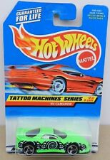 1997 TATTOO MACHINES SERIES #2 CHEVY CAMARO 1993 GREEN 93 MATTEL HOT WHEELS
