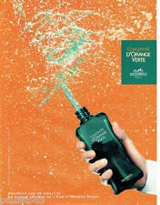 PUBLICITE ADVERTISING 046  2004  Hermès  nouvelle eau toilette d'Orange Verte