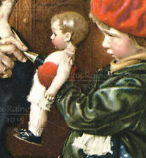 Vintage Norman Rockwell print doctor girl doll Kathe Kruse Lenci OLD STORE STOCK