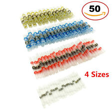 50pcs 4 Size Assortment Solder Sleeve Heat Shrink Butt Tube Terminal Connectors