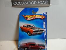 2009 Hot Wheels #81 Red '69 Dodge Charger w/5 Spoke Wheels