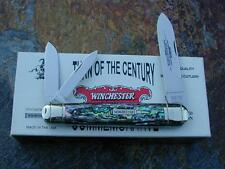 CLASSIC WINCHESTER 2000 ABALONE CIGAR WHITTLER USA PEARL KNIFE w/3pc CASE RARE