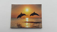 HANDMADE MINIATURE DOLLS HOUSE ACCESSORY CANVAS STYLE WALL ART PICTURE DOLPHINS