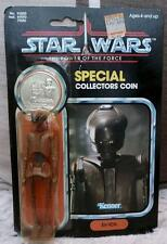STAR WARS VINTAGE EV 9D9 last 17 Kenner Coin  FIGURE carded 1984 power force
