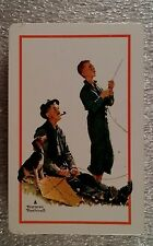 Norman Rockwell Fishing Single Deck Trump Playing Cards  New Cello sealed