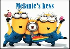 PERSONALISED DESPICABLE ME MINIONS KEYRING - GIFT/FILLER