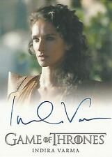 "Game of Thrones Season 5 - Indira Varma ""Ellaria Sand"" Autograph Card"