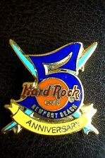 HRC Hard Rock Cafe Newport Beach 5th Anniversary Crossed Surfboards