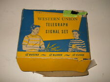 VINTAGE WESTERN UNION TOY TELEGRAPH SIGNAL SET NO.165 IN ORIGINAL BOX W/MANUAL