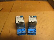 LOT OF 2 FINDER RELAY 60.13.9.024.0040 24VDC 10A A AMP 601390240040 W/9073