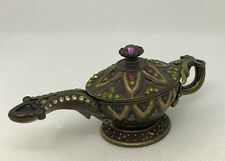 "Jay Strongwater MAGIC LAMP 3 3/4""X11/2"" trinket box Priority Ship"